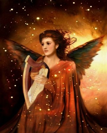 Angel with harp